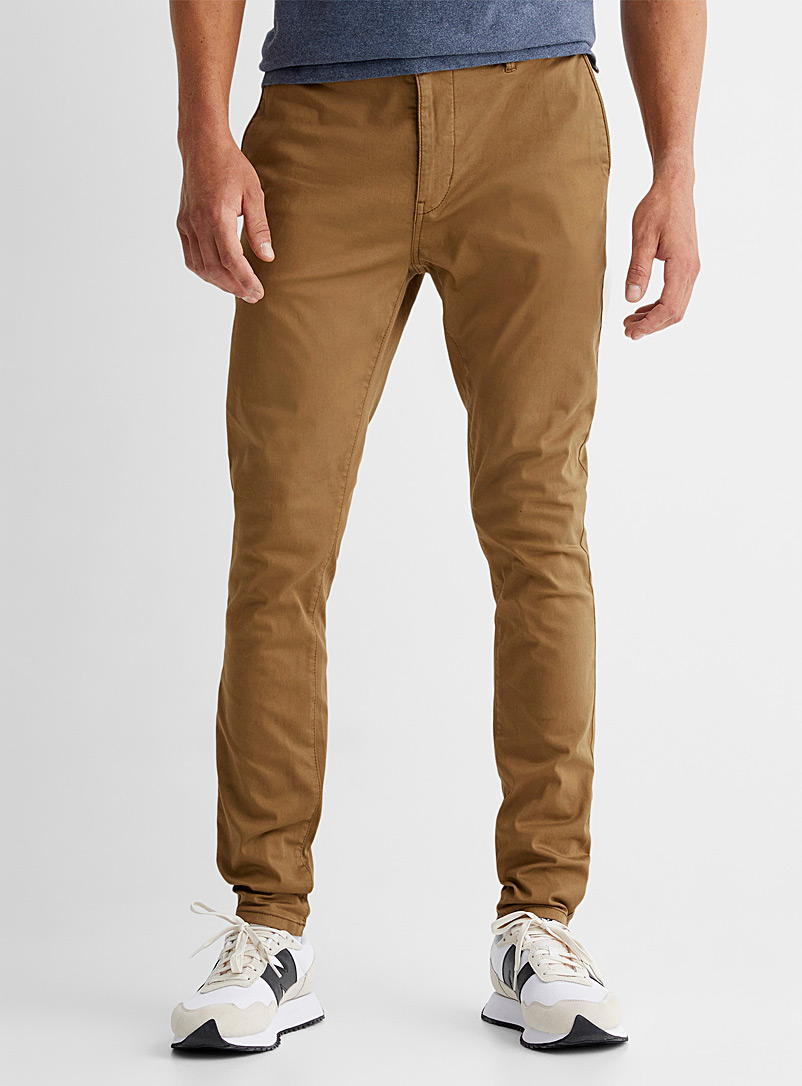 Le 31 Fawn Garment-dyed chinos Tokyo fit - Skinny for men