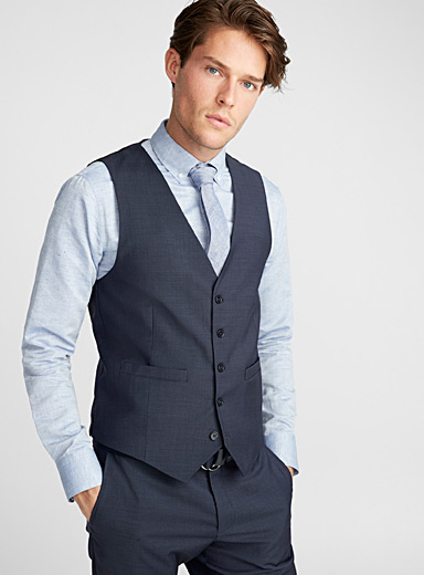 Marzotto end-on-end vest <br>Semi-slim fit