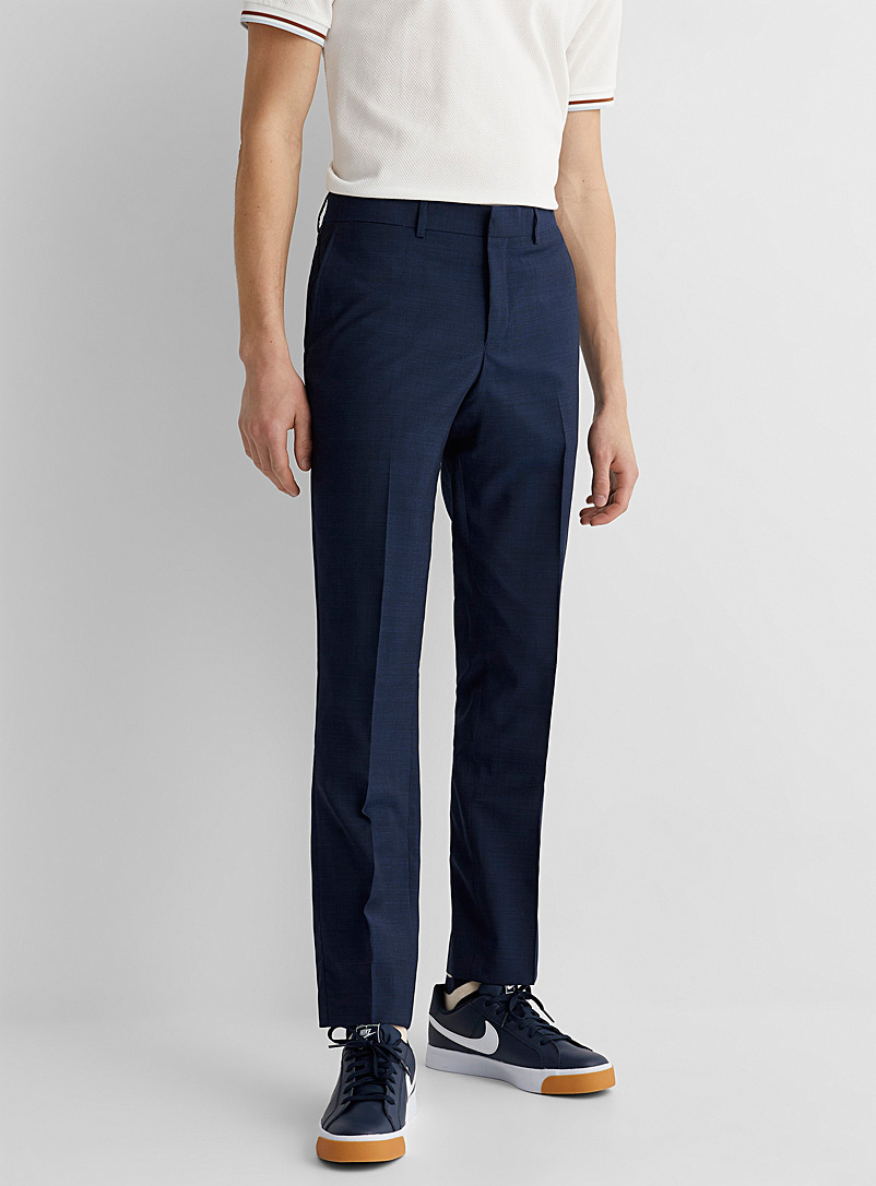 Le 31 Sapphire Blue Marzotto end-on-end pant  Stockholm fit-Slim for men