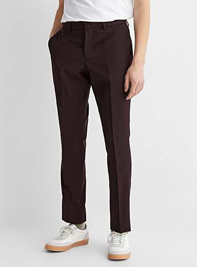 Le 31 Ruby Red Marzotto end-on-end pant  Stockholm fit-Slim for men