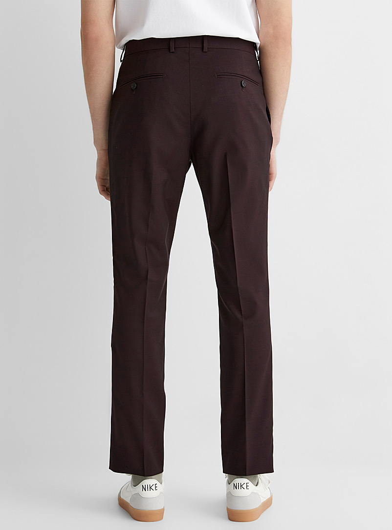 Le 31 Charcoal Marzotto end-on-end pant  Stockholm fit-Slim for men