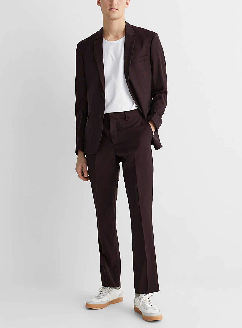 Marzotto end-on-end pant  Stockholm fit-Slim - Suit Separates - Ruby Red