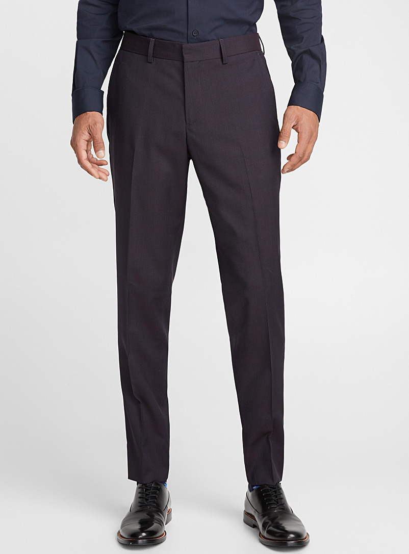 Tone-on-tone check pant  London fit-Slim straight - Suit Separates