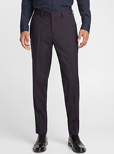 Tone-on-tone check pant  London fit-Slim straight