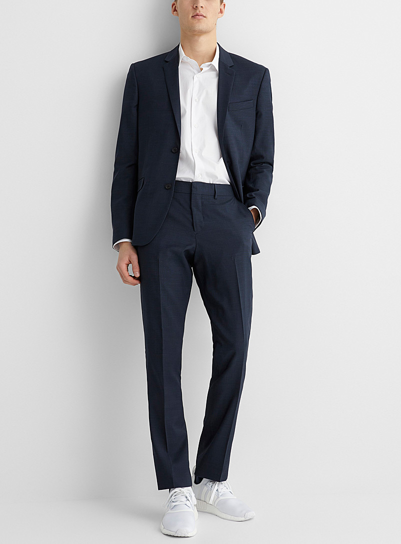 Marzotto end-on-end jacket  Stockholm fit - Slim - Suit Separates - Marine Blue