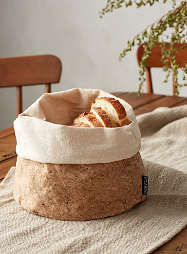 Cotton and cork bread basket