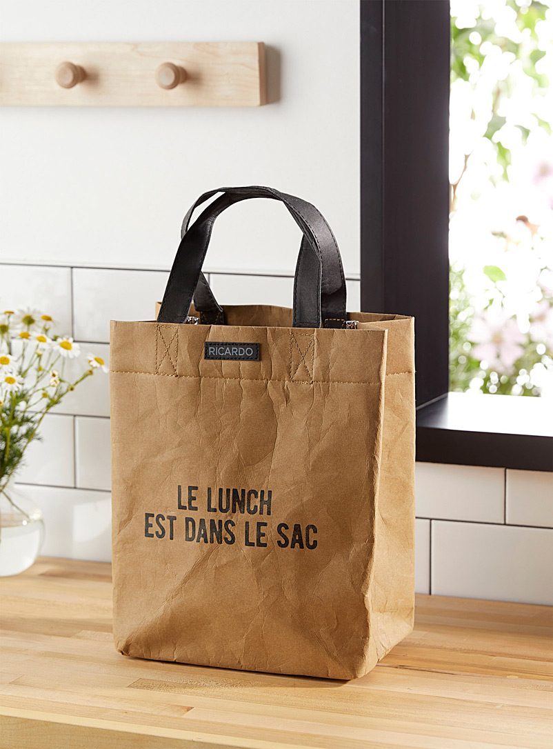 Ricardo: Le sac à lunch en papier lavable Brun