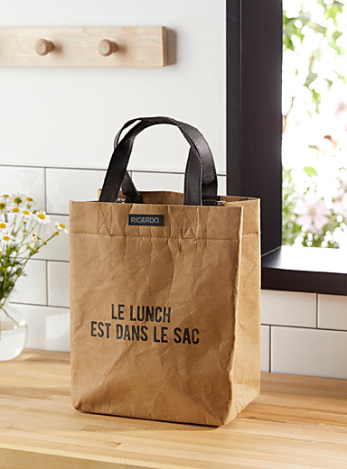 Le sac à lunch en papier lavable