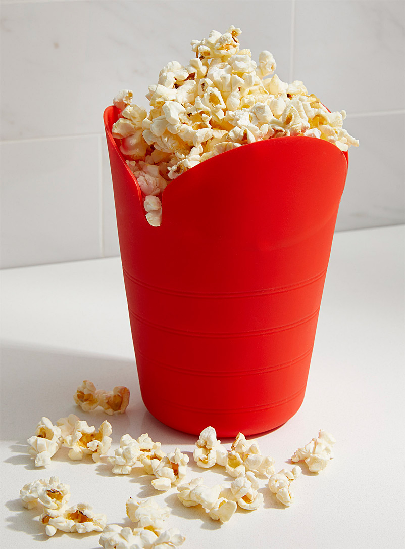 Starfrit Red Zero waste microwave popcorn bowl
