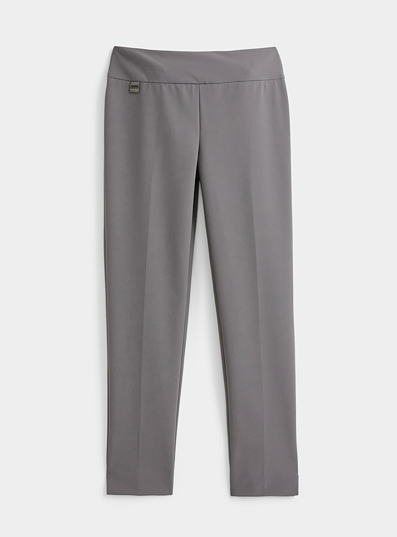 Lisette L Grey Slim pull-on pant for women