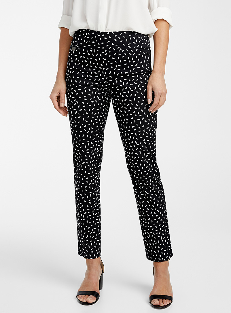 Lisette L Black and White Spotted bandeau-waist pant for women