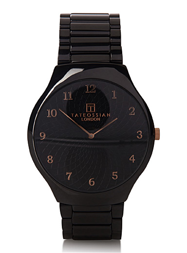 Black minimalist watch