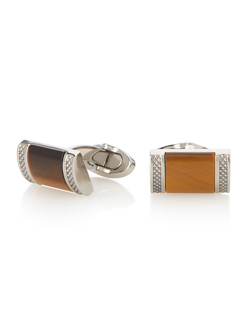 tiger-eye-cufflinks