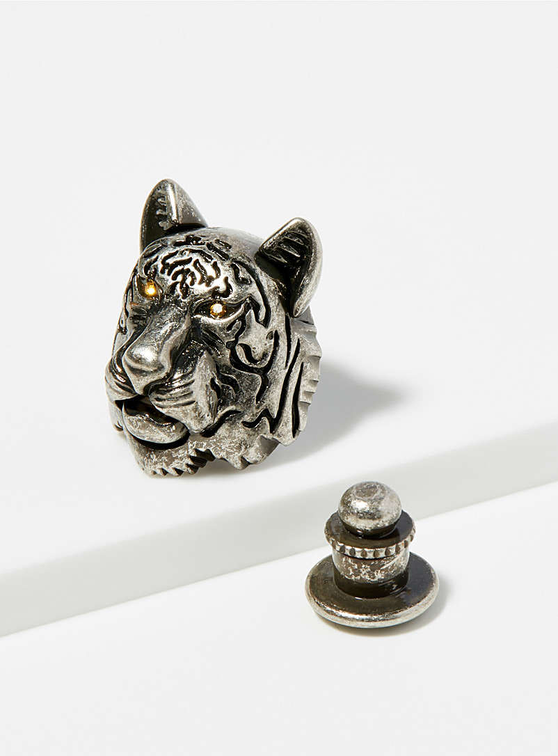 Antique tiger pin