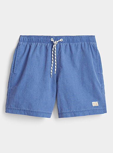 Blend Blue Washed-out solid swim trunk for men