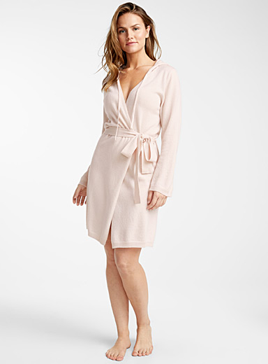 Pink pure cashmere robe