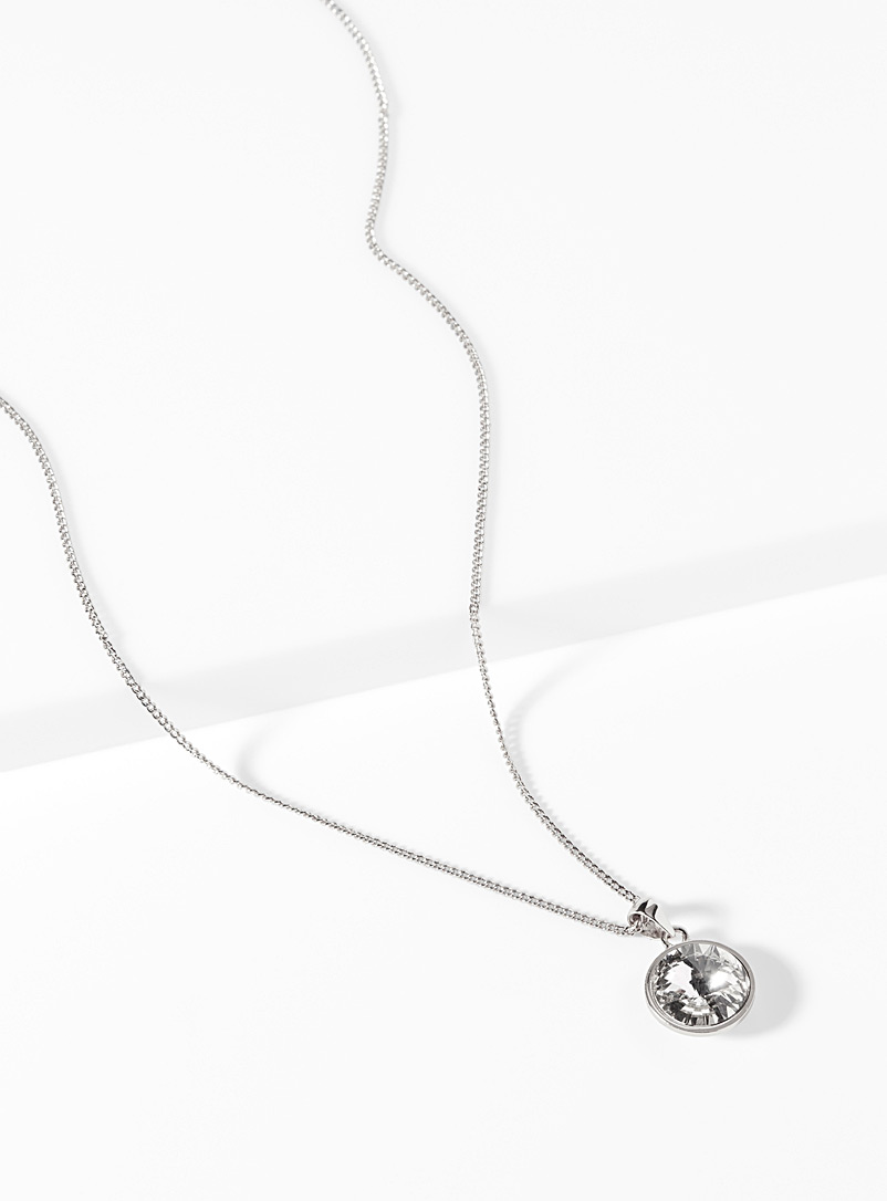 Simons Silver Swarovski crystal necklace for women
