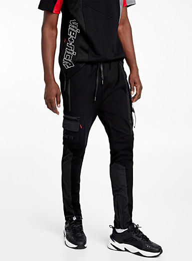 Mixed utility track pant