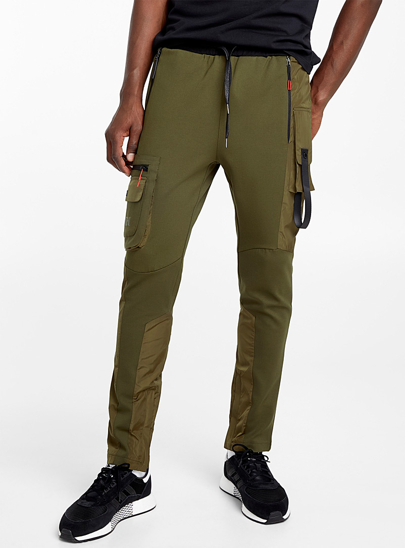 Mixed utility track pant - Joggers - Mossy Green
