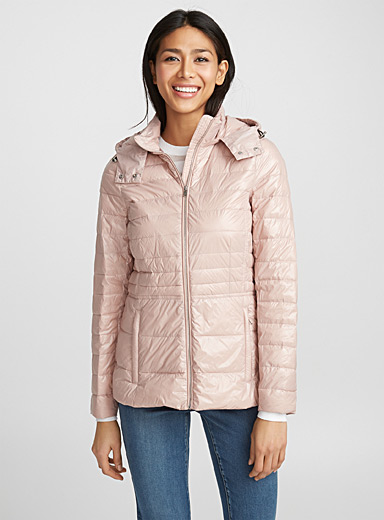 Quilted light down jacket