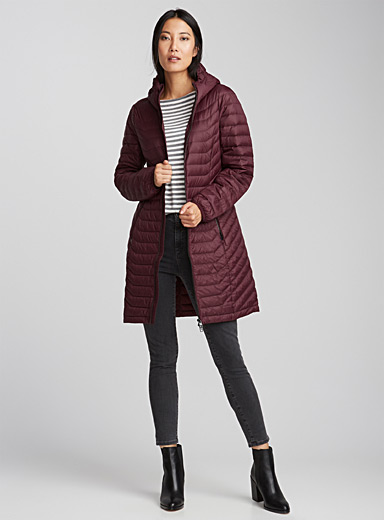 Quilted light down coat