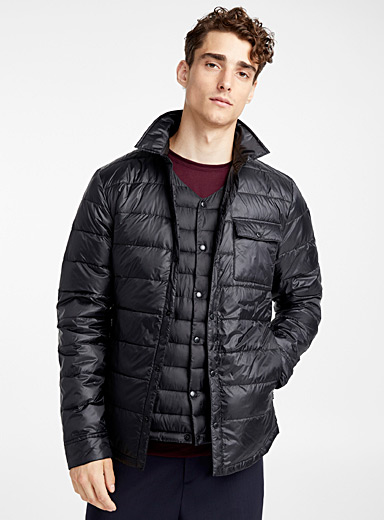Quilted recycled polyester Traveller overshirt