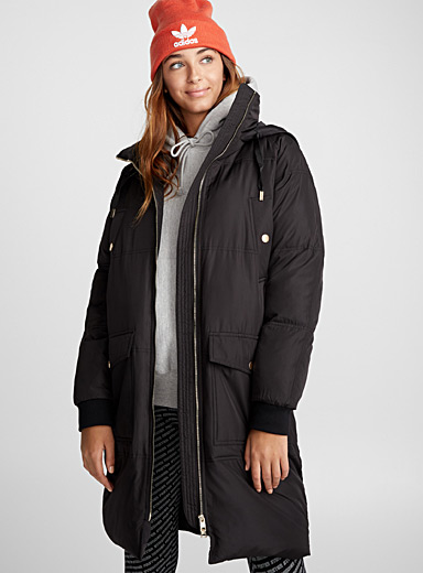Long feather and down parka