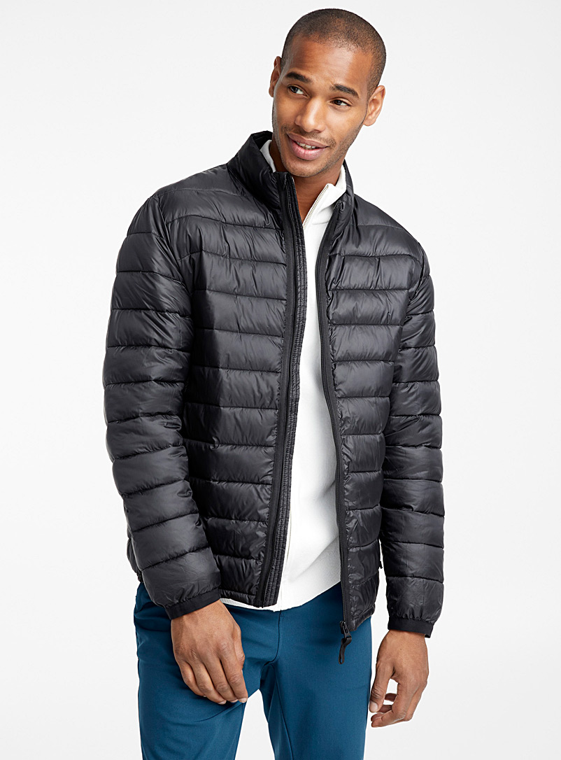Recycled polyester packable puffer jacket - Jackets & Vests - Black