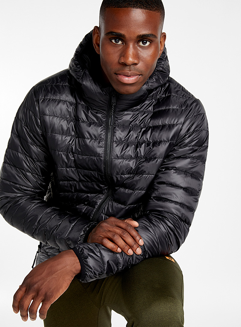Solid recycled plastic puffer jacket - Jackets & vests - Black