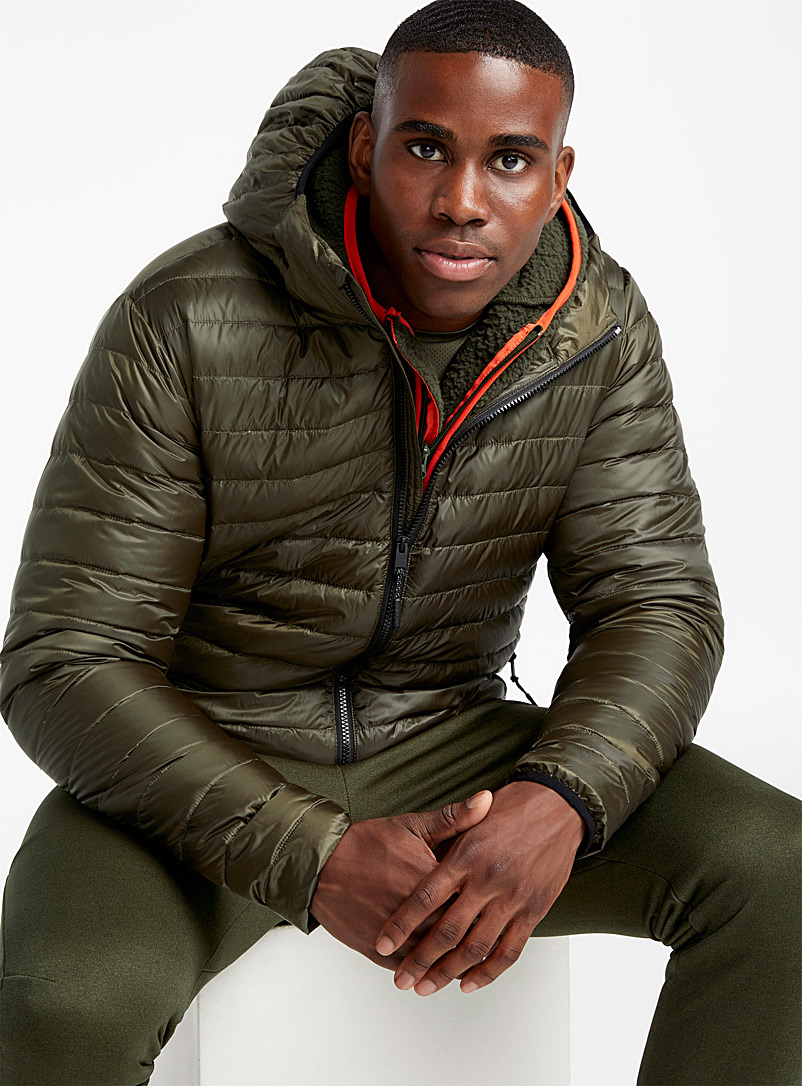 Solid recycled plastic puffer jacket - Jackets & vests - Green