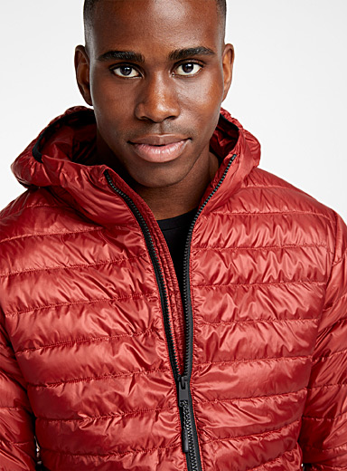 Solid recycled plastic puffer jacket