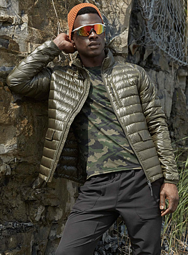 Shiny recycled polyester quilted jacket
