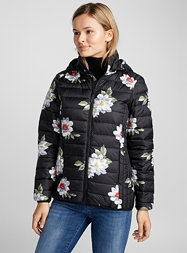 Night garden lightweight down jacket