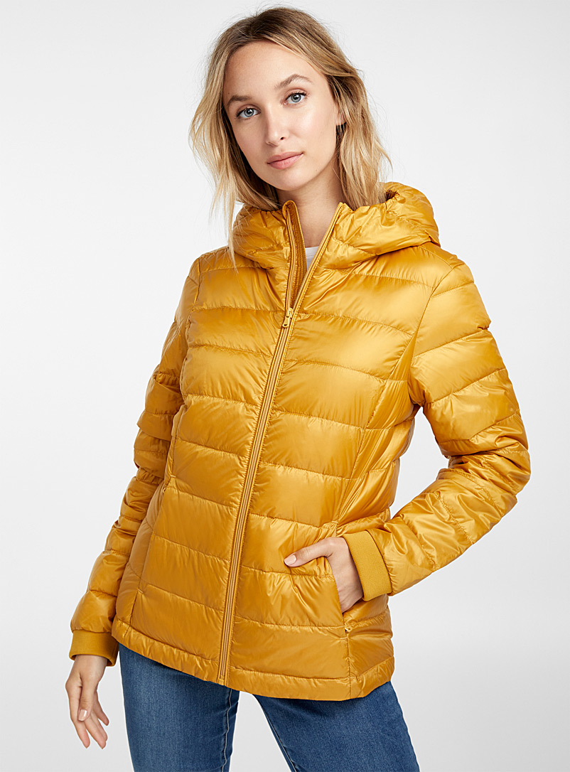 Recycled polyester hooded puffer jacket - Quilted and Down Jackets - Assorted