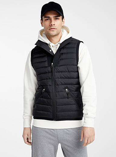 Recycled polyester puffer vest