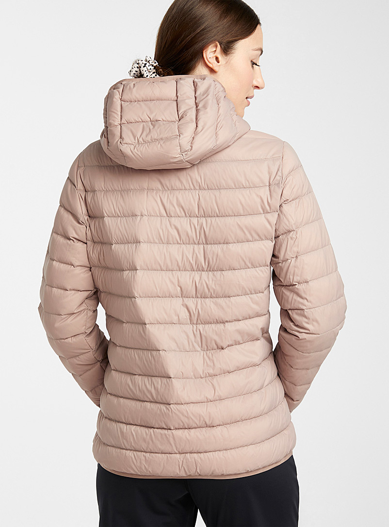 I.FIV5 Black Eco-friendly packable hooded puffer jacket for women