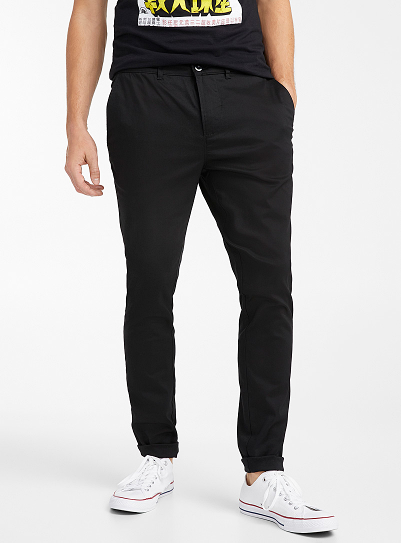 Djab Black Eco-friendly stretch chinos  Yoyogi fit - Skinny for men