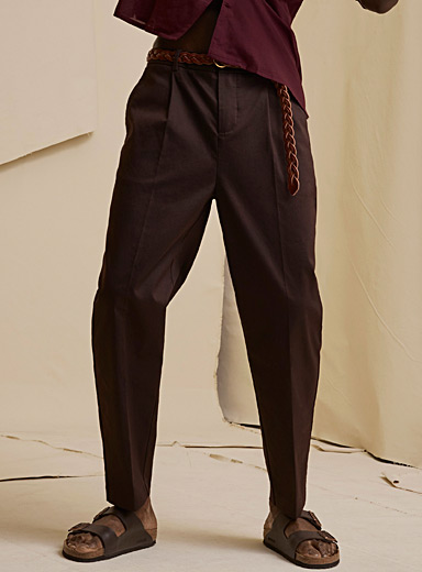 Pleated stretch chinos Reykjavik fit-Anti-fit