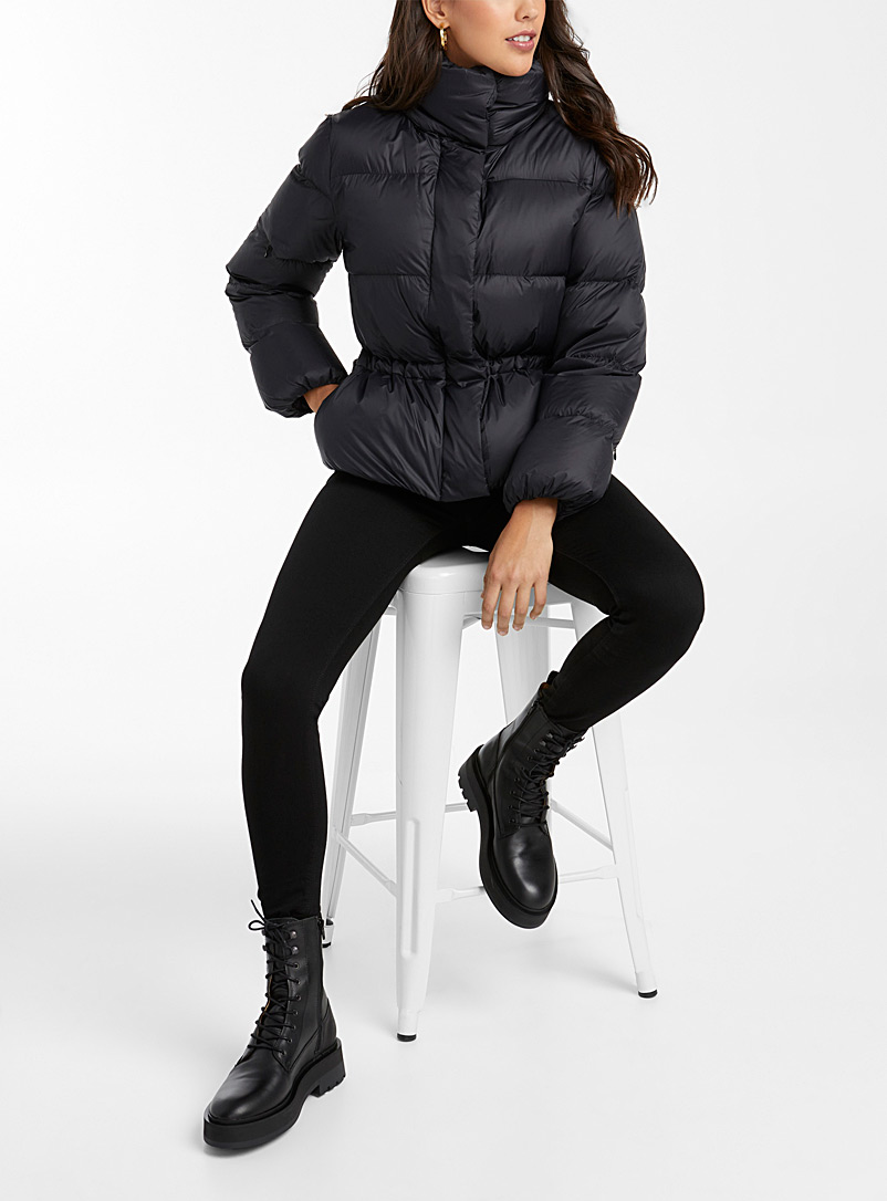 Transformed nylon packable puffer jacket