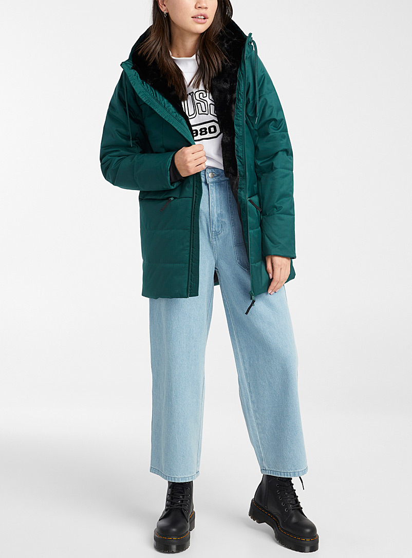Plush-lined utility parka