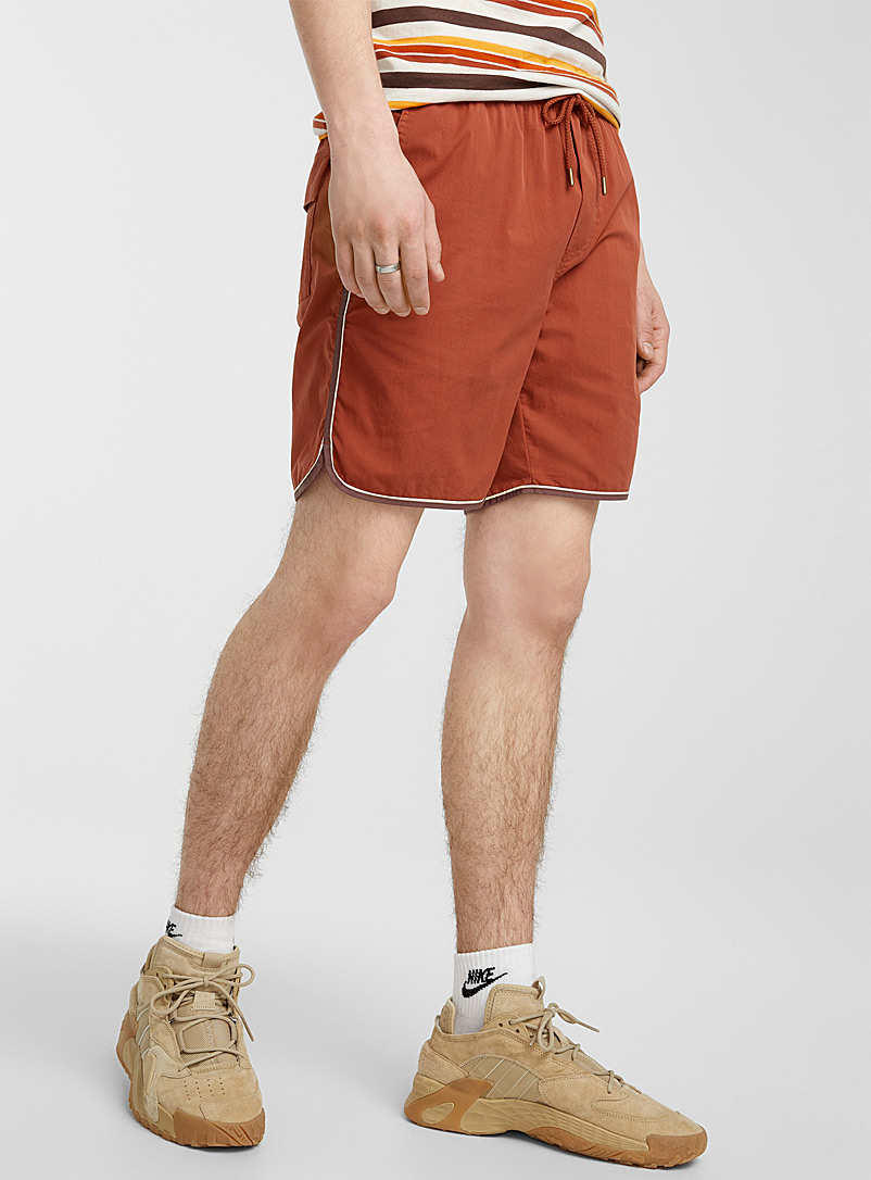 Djab Cream Beige Trimmed pull-on short for men
