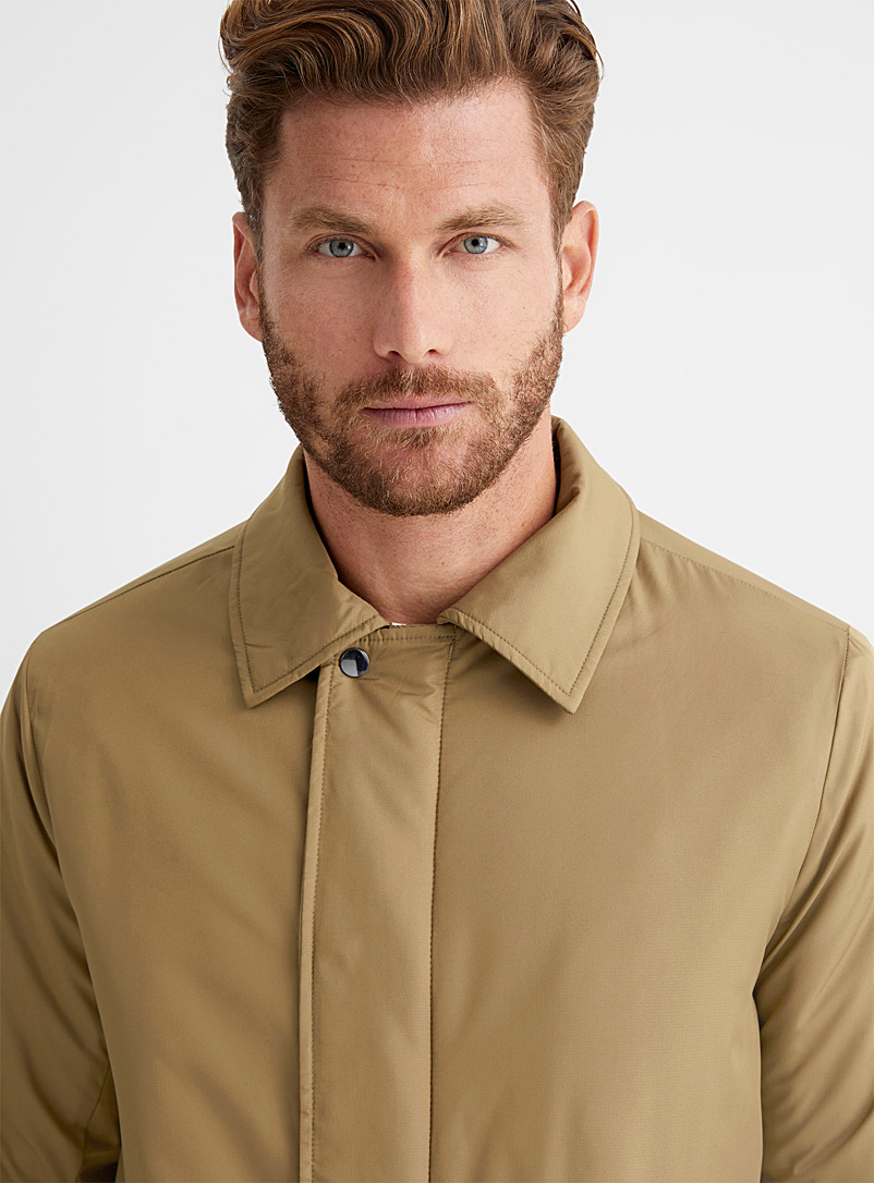 Le 31 Honey Quilted trench coat for men