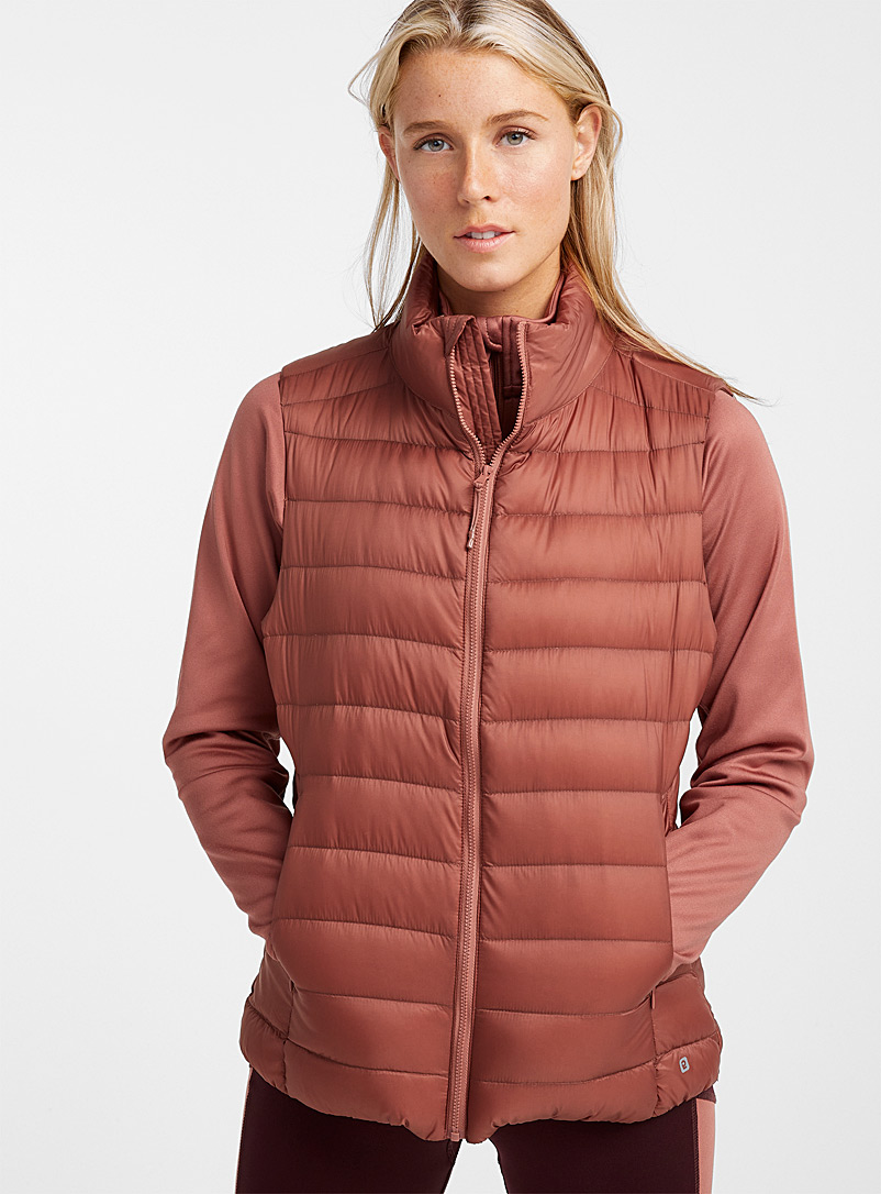 I.FIV5 Copper Eco-friendly quilted vest for women