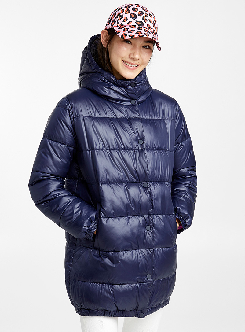 Side-zip puffer jacket - Quilted and Down Jackets - Marine Blue