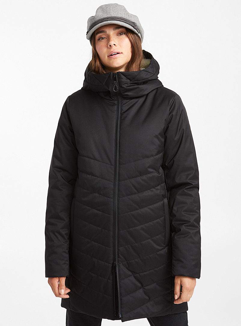 Sherpa hooded parka - Anoraks and Parkas - Black