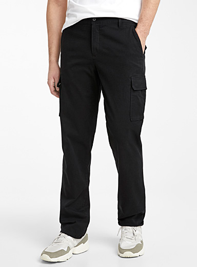 Monochrome lyocell cargo pant  London fit - Slim straight