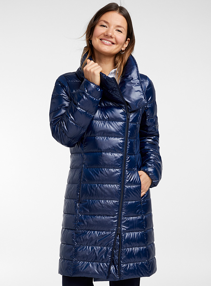 1ad096bb1 Recycled polyester off-centre zip puffer jacket