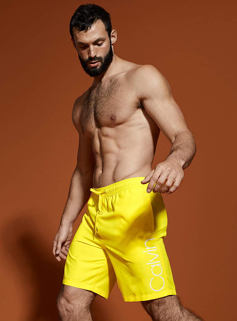 Solid logo swim trunk - Collections - Bright Yellow