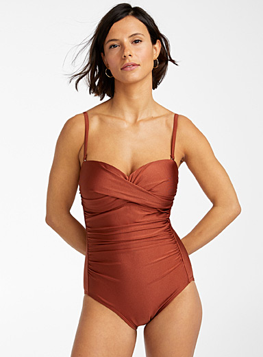 Draped moulded one-piece
