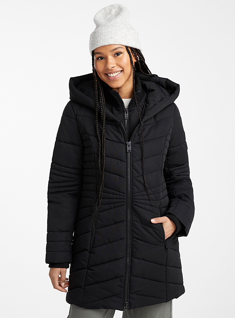 Amelia quilted parka - Anoraks and Parkas - Black